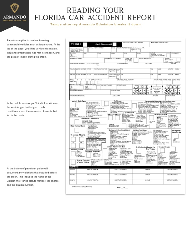 Florida car accident report page 4